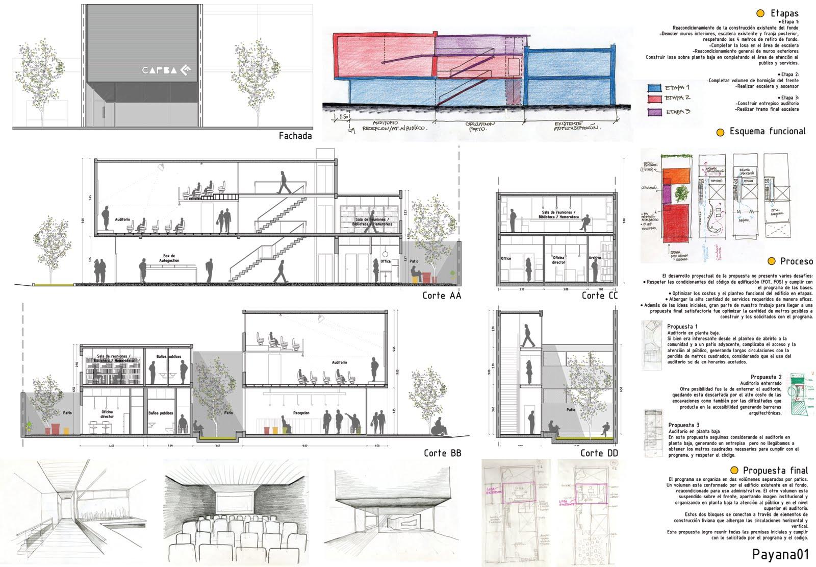 Payana arquitectura for Plantas de oficinas arquitectura