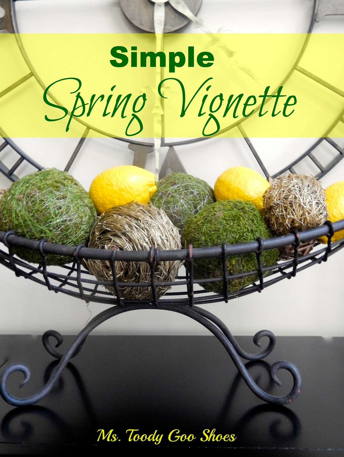 Simple Spring Vignette --- Ms. Toody Goo Shoes