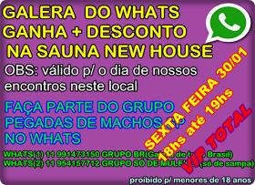 SURUBA ENTRE MACHOS SEXTA FEIRA 30/01 17hs até 00hs sauna new house.