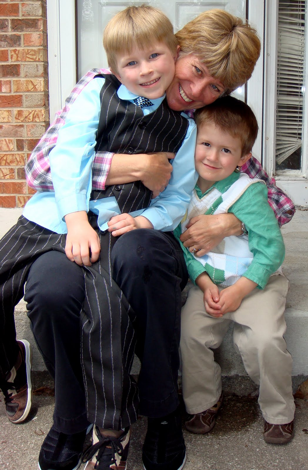 The boys...they love their Gramma!