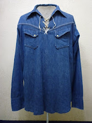 50's MILLER PULL OVER DENIM SHIRTS