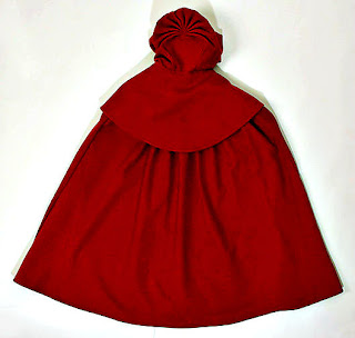 Cloak with detachable hood-back view