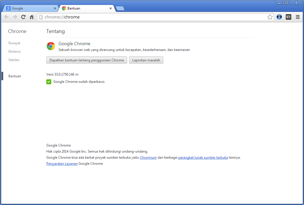 Download Google Chrome 33.0.1750.146 Final Update Terbaru 2014