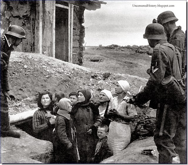 German soldiers occupied Russia WW2