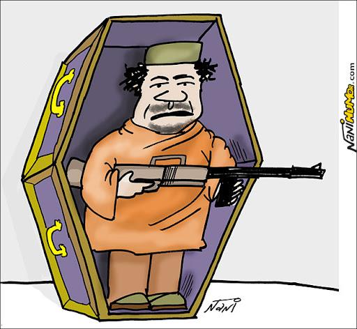 Kadafi: Só saio morto. Invadido QG de kadafi