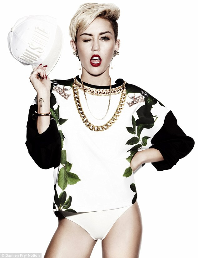 Miley Cyrus in her latest Notion photoshoot for August 2013 edition