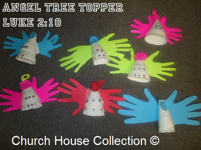 Church house collection blog angel tree topper craft for Christmas bible crafts for kids