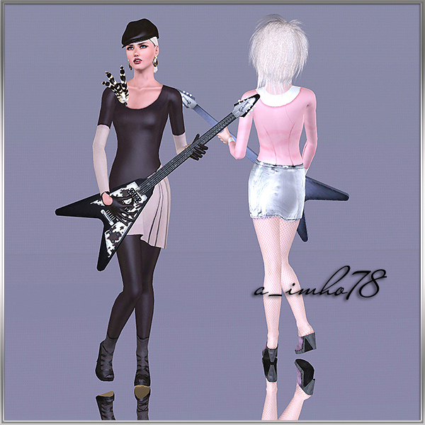 9 Poses - Girl with guitar by IMHO Sims+3,+imho,+poses+(4)