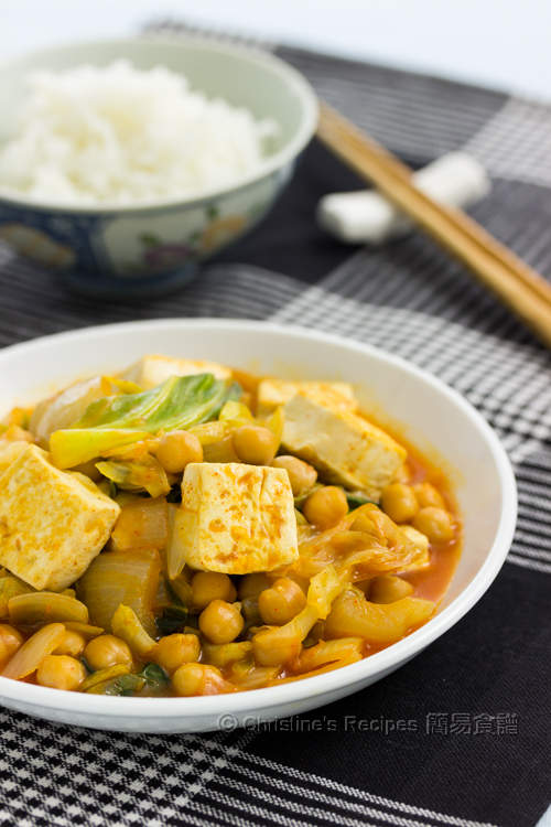 韓式豆腐鷹嘴豆  Korean Style Tofu & Chickpeas01