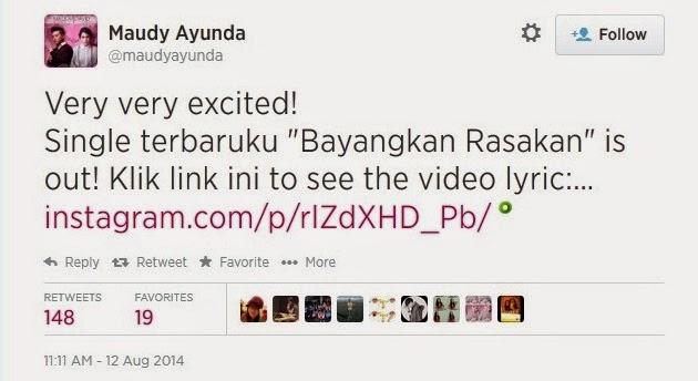 Maudy Ayunda meluncurkan video lirik Bayangkan Rasakan