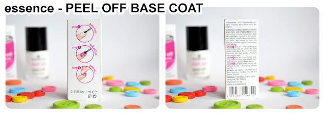 peel off base coat von essence - Verpackung