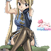 Tags: Render, Crossed Legs, Fairy Tail, Knees, Large Breasts, Lucy Heartfilia, Mashima Hiro, Ponytail, Thigh Highs