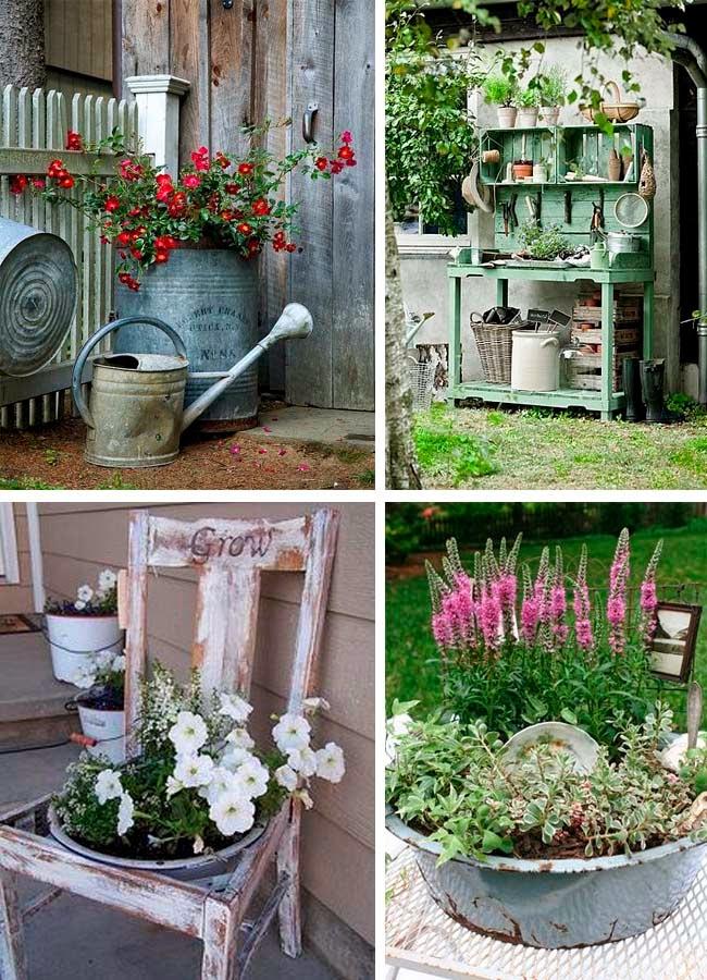 Decoraci n vintage restauraci n y recuperaci n vintage for Estantes para plantas exteriores