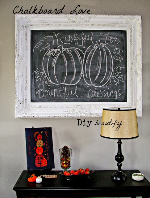 fall chalkboard project