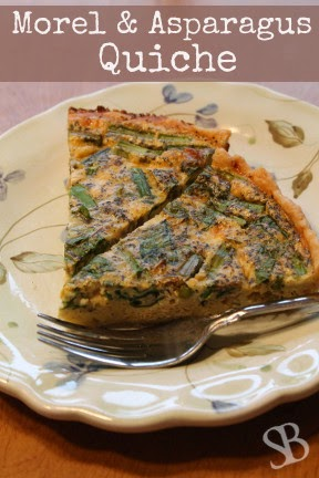 http://www.sustainableblessings.com/2014/05/morel-asparagus-quiche.html