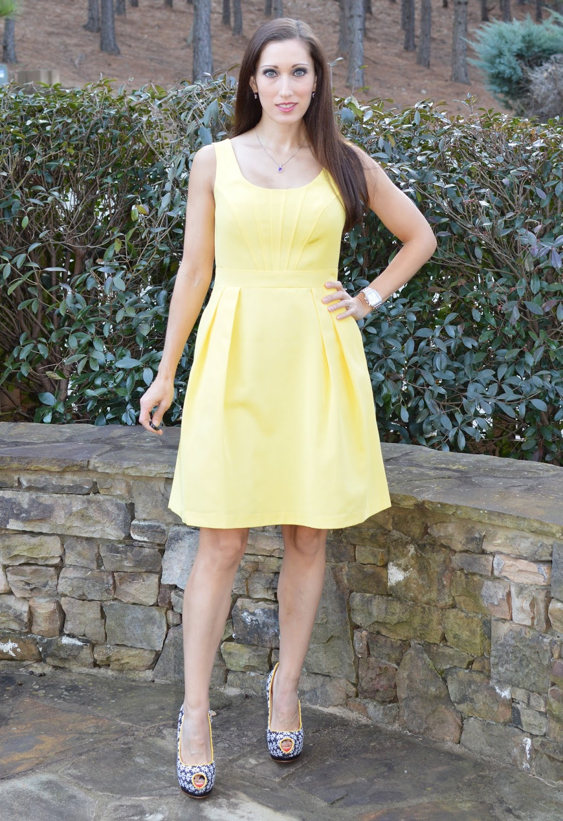 yellow dress very nice