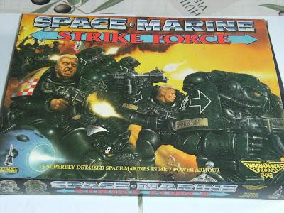 Portada de la Caja de Space Marine Strike Force para Warhammer 40K