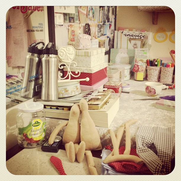 Craft and Decorate Blog - Tilda, craft room, doll making