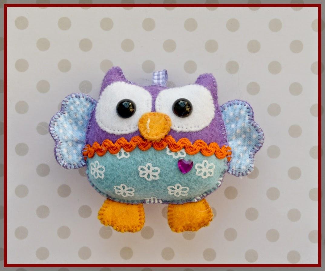 фетровая сова, фетровая игрушка
