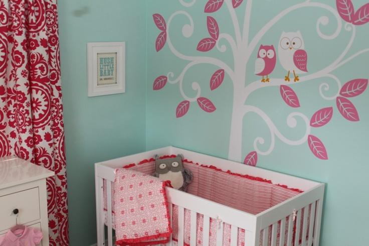 Kinderzimmer Pink Turkis Dekoration Bild Idee