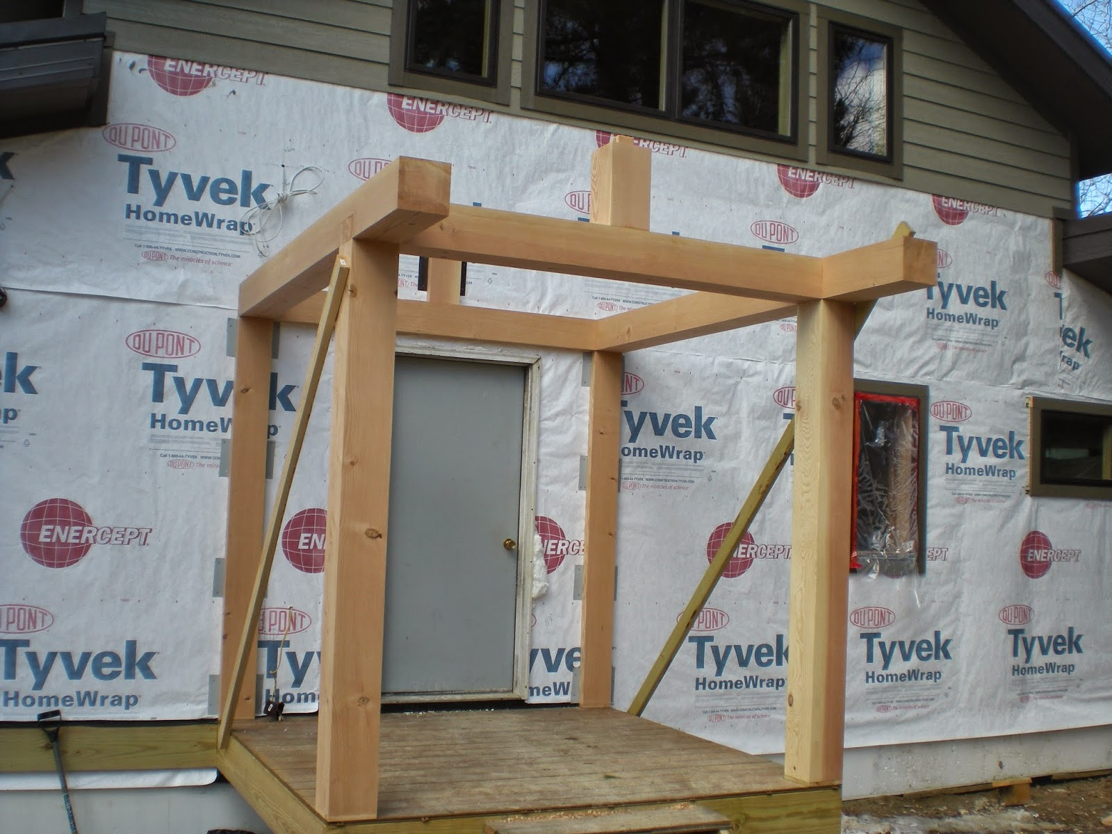 entry, timber, frame, huisman, concepts, ely, minnesota, porch