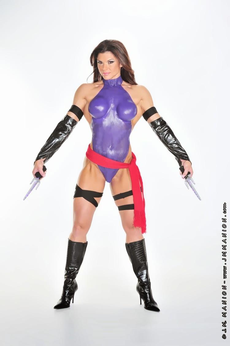Bodypainting - Psylocke (Mariposa Mental) - Ann Titone