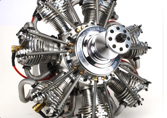 Seven Cylinder 4-Stroke Radial Engine 260cc Petrol