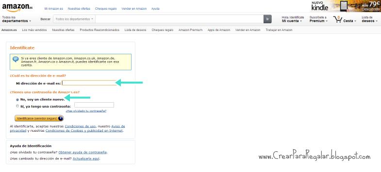 crear una cuenta en amazon.es