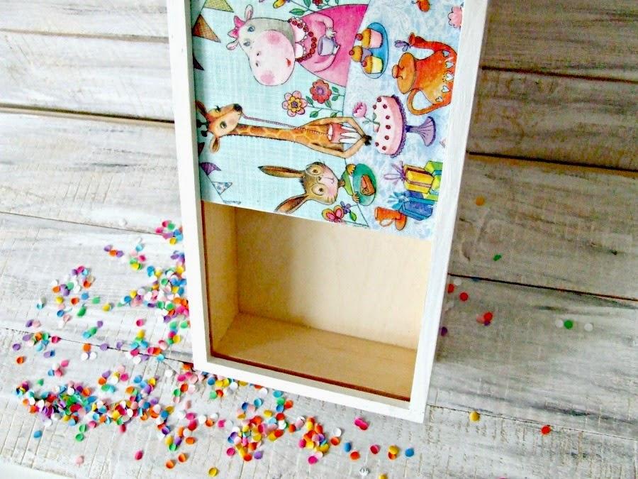 Decoupage dla dzieci. Piórnik decoupage z kolorowym motywem by Eco Manufaktura