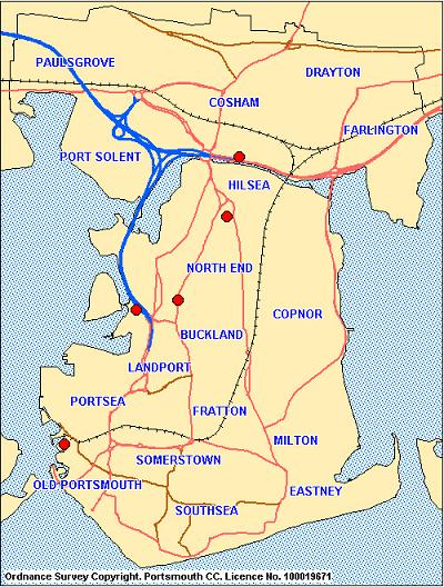 Portsmouth City Regions Maps  United Kingdom Map Regional City