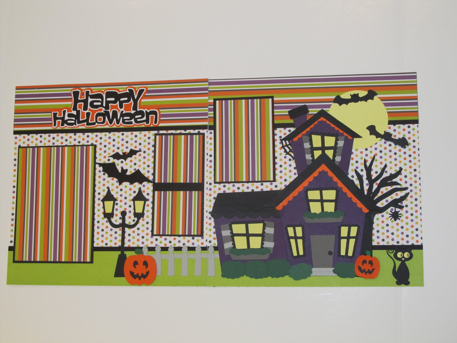 Creative Cricut Designs More Happy Halloween Scrapbook Layout