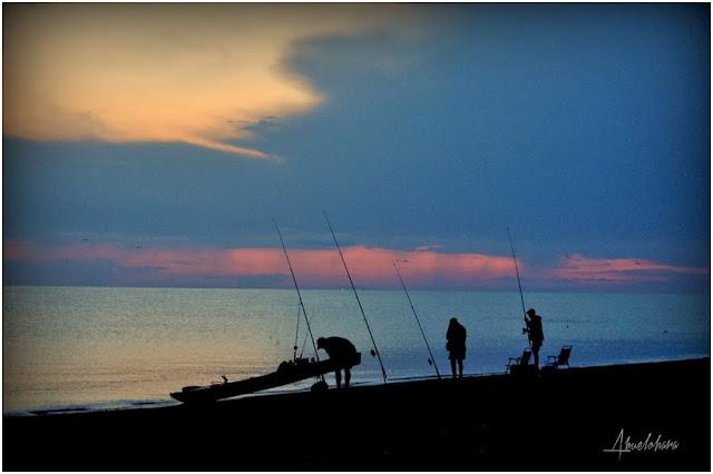 Pescar al amanecer. Abuelohara