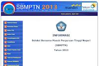 Cara Pendaftaran SBMPTN 2013