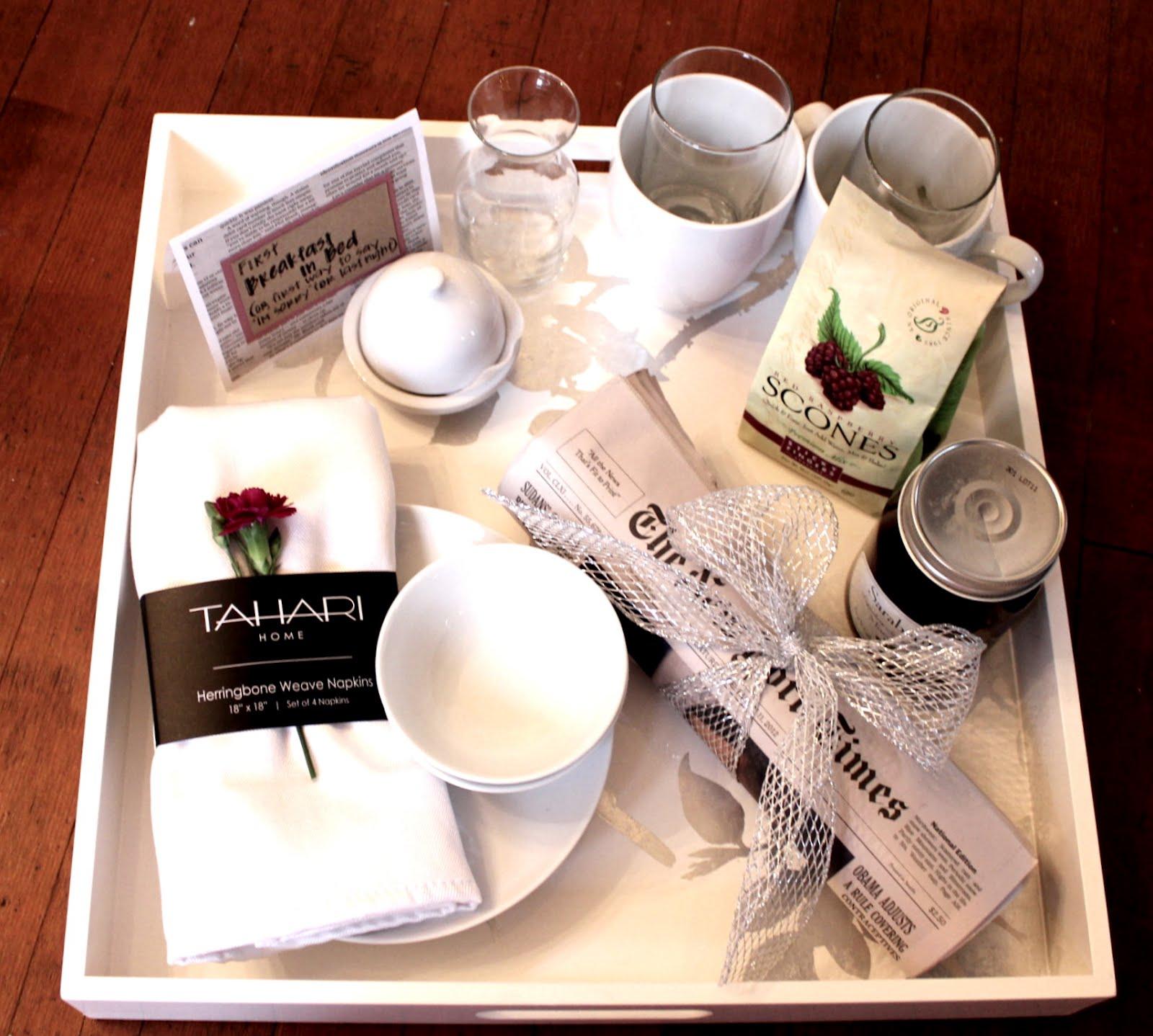 House of josephine breakfast in bed gift idea for Breakfast in bed ideas