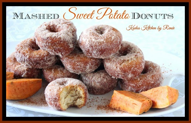 Mashed Sweet Potato Donuts with cinnamon sugar topping