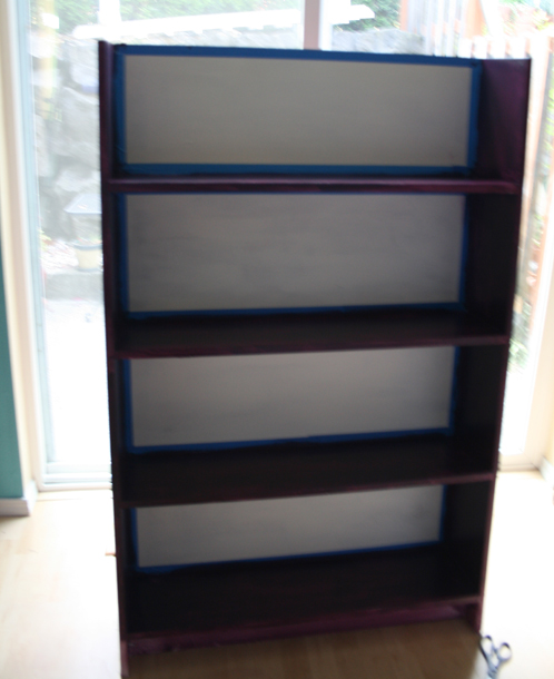 purple bookcase a tiny rocket diy operation bookshelf