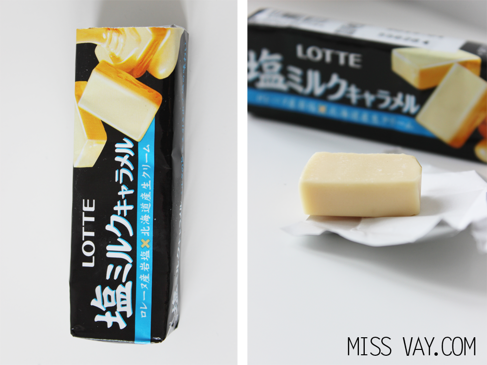 Candy Japan review bonbons caramel salé lotte