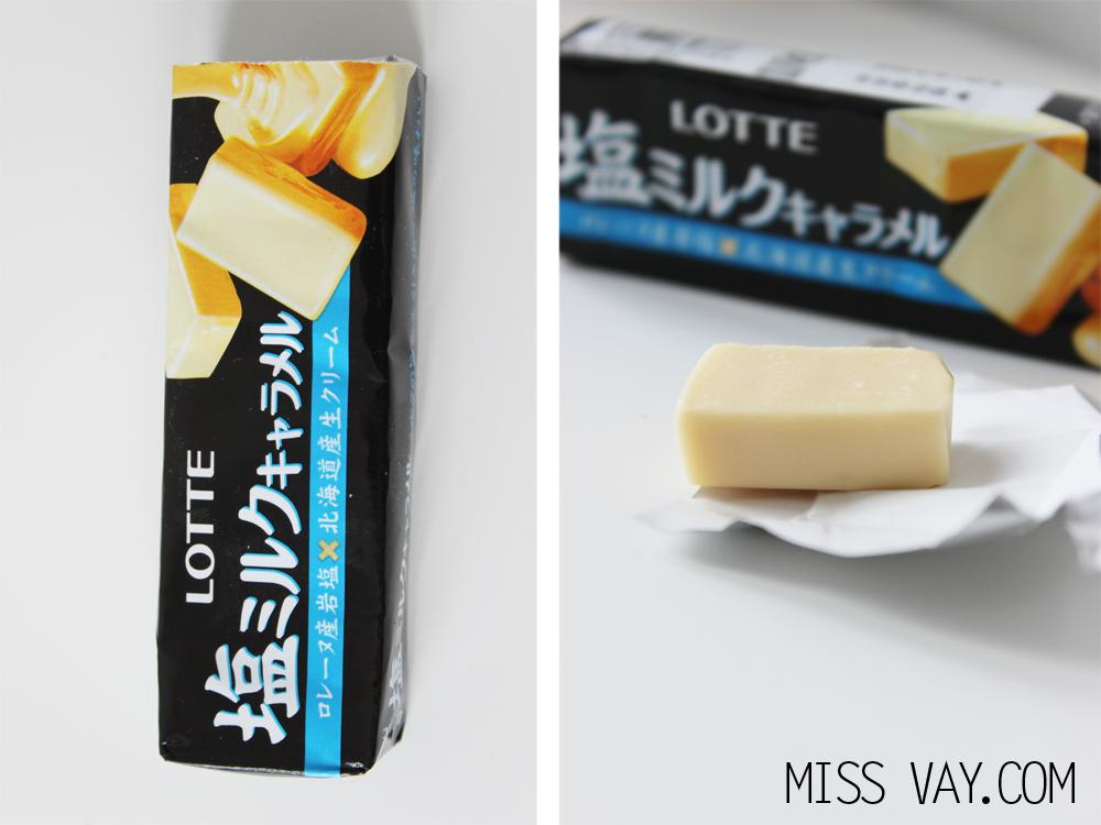 Candy Japan review bonbons caramel salé lotte