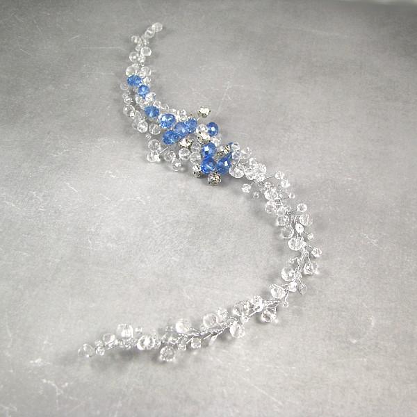 Gałązka ślubna Airy błękit.