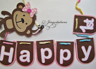 Monkey Banner for Baby Shower