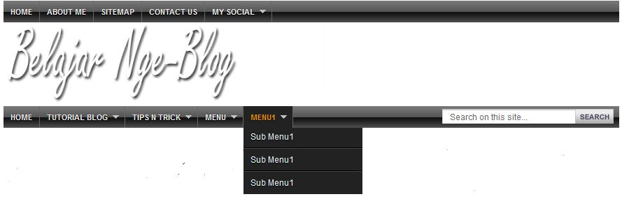 Cara membuat menu dropdown+ search box