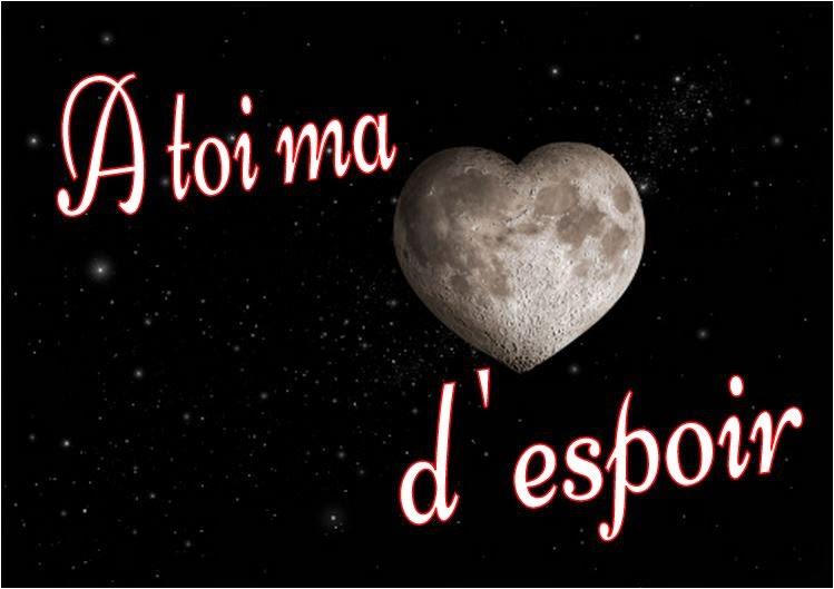 Une lune d'espoir et d'amour, sous forme d'un coeur