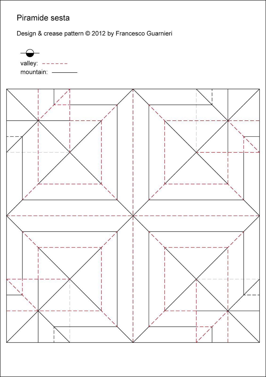 Origami CP Piramide sesta - Sixth pyramid by Francesco Guarnieri