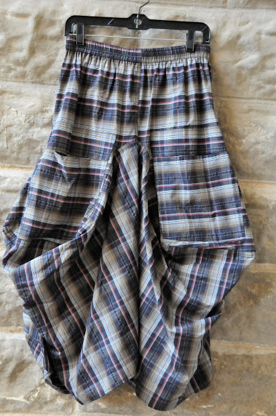 funky pocket skirt in great plaid.  $142