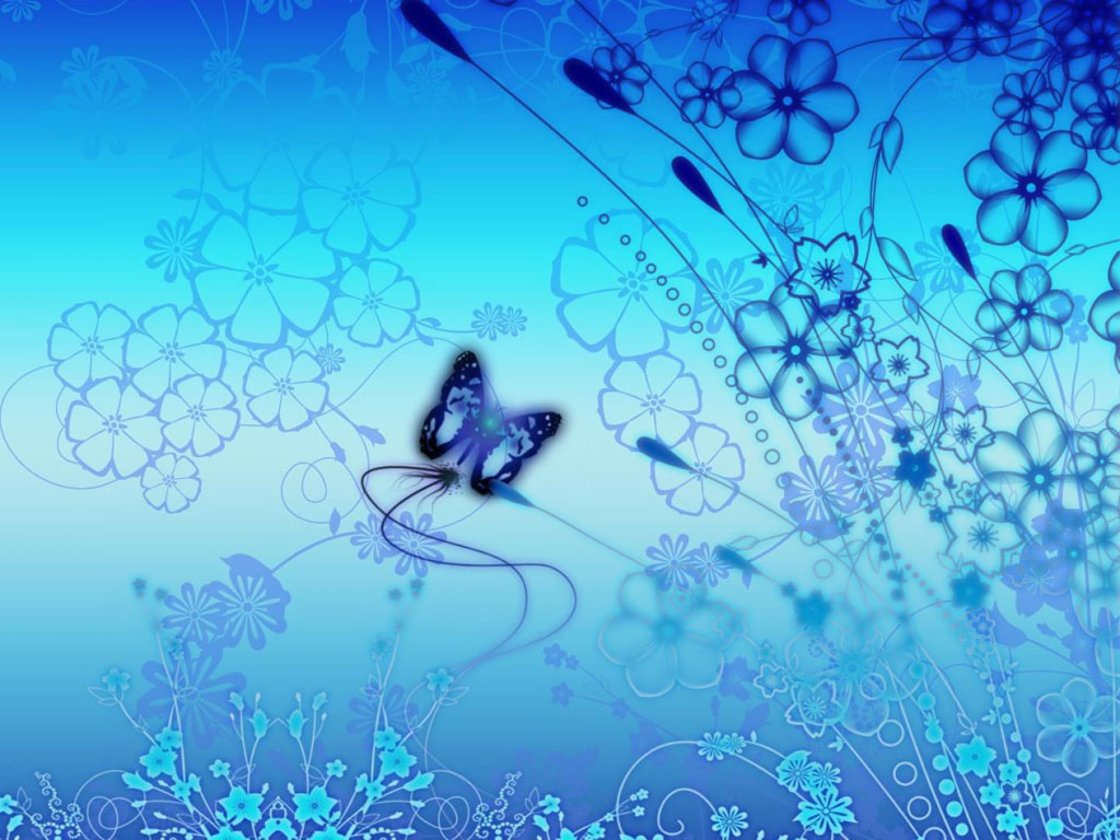 : Blue Butterfly Art Wallpapers, Blue ButterflyArt Desktop Wallpapers