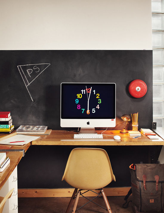 The workspace of creative team Public School via @katedonnelly