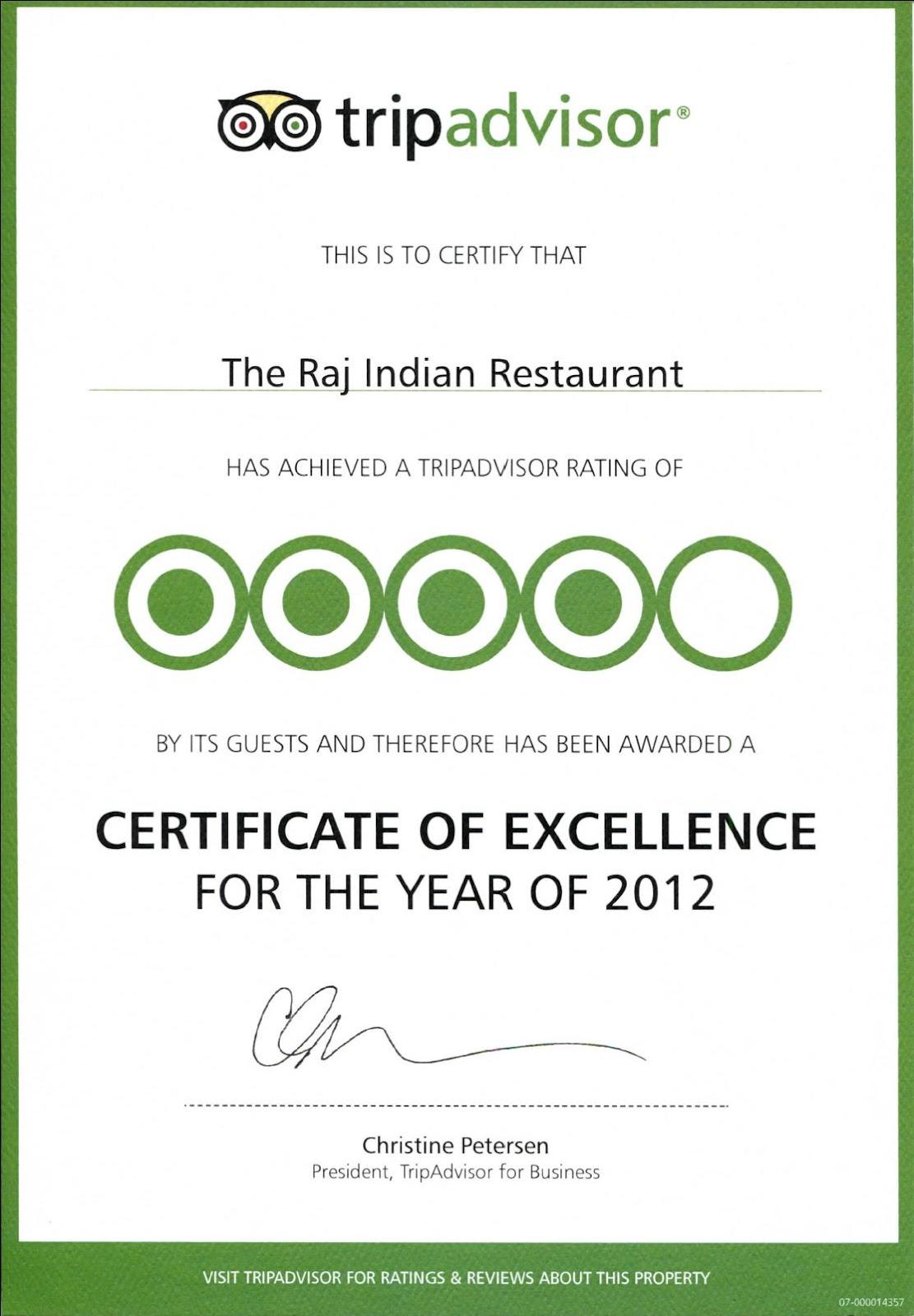 Holiday Inn Algarve: Raj Indian Restaurant - Certificate of Excellence