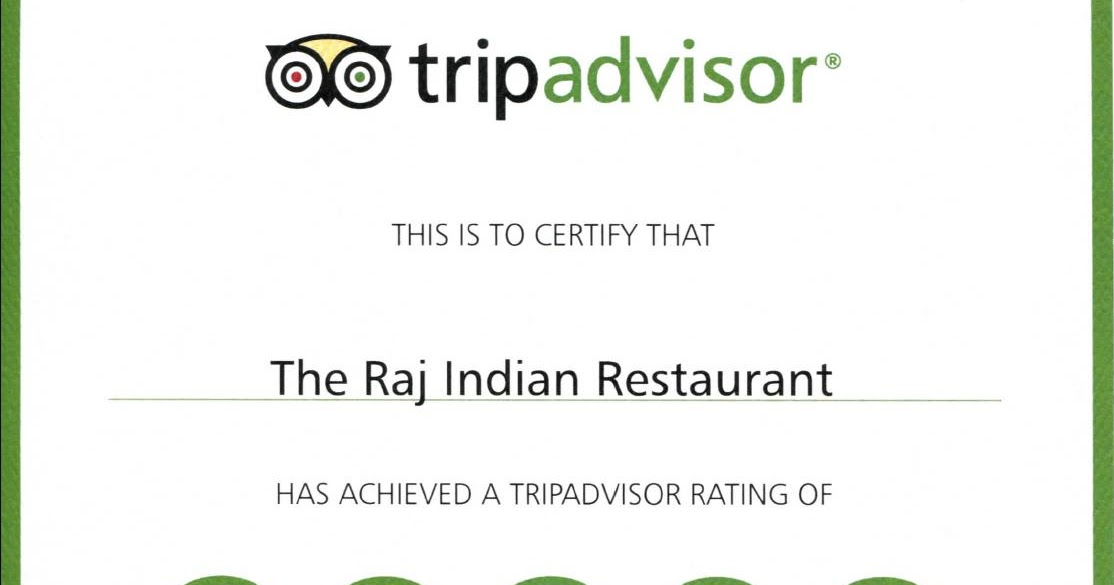 Holiday Inn Algarve Raj Indian Restaurant Certificate Of Excellence