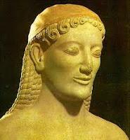 Esculturas griegas. La aparicion del kuros y la kore. Grecia antigua. El arte en grecia