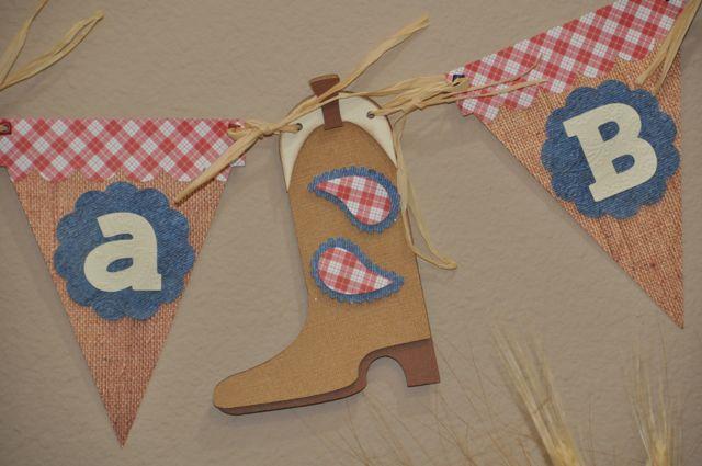 amanda sarver cowboy theme baby shower for a boy blog scrapbooking